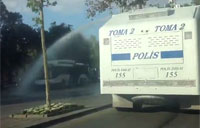 Police Water Cannon Truck Having Fun
