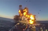 Norwegian Navy Blows Up Own Ship