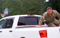 Soldier Hides in Truck to Surprise Sons