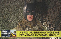 Batman Wishes Army Happy Birthday