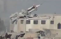Mosque Blasted with Heavy Artillery
