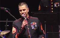 Marine Jazz Band Blows Away Crowd