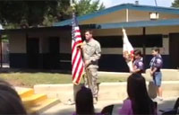 EOD Surprise at Scout Ceremony