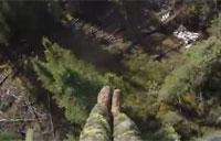 Canadian Paratrooper Lands in Trees