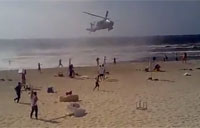 Apache Blows Away Beachgoers