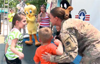 Military Family Reunites at Six Flags