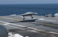 X-47B First Arrested Landing on Carrier