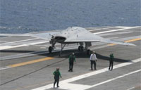 X-47B Drone Carrier Landing & Takeoff