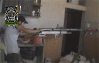 Giant Sniper Rifle Fired in Syria