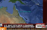 US Dropped Bombs on Barrier Reef
