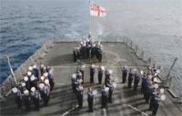 The Royal Navy Spells Out BOY!