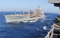 Timelapse of Navy Resupply at Sea