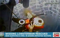 Man Saved from Shark-Infested Waters