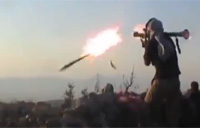 Syrian Rebel RPG-7 Spits Fire