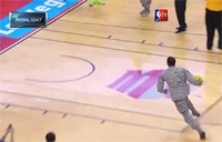 Airman Throws Down Windmill Dunk!