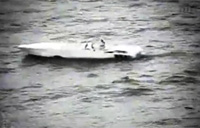 RAW: Drug Boat Gets Engine Shot Out