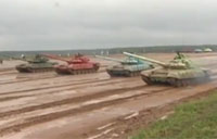 First Ever Russian T-72 Tank Biathlon