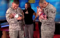 Soldiers Meet Their Newborn Babies