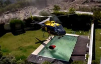 Helo Uses Pool to Fight Wildfire!
