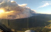 Cockpit View of Major Forest Fire