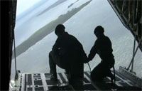 Rescue Equipment Air Drop from C-130!