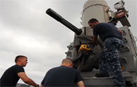 Navy Phalanx Installed at FOB Shank