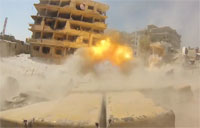 Syrian Army Attacks Rebel Posts