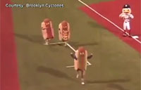 Soldier Surprises Wife as Hot Dog!