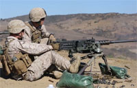 Infantrymen Machine Gun Training
