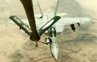 FA-18C Air Refueling Over Afghanistan