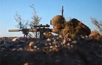 Marine Sniper Hits Taliban Fighter