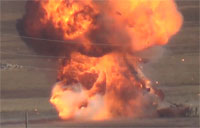 SAA Tank Turns into Great Ball of Fire
