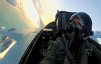 EA-18G Growler Pilot in Action
