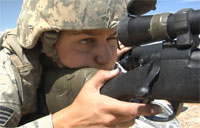 Female Airman Owns Sniper Course