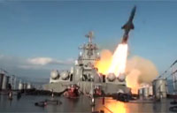 Russian Missile Cruiser 'Gets Some'