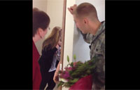 Airman Surprises Wife at School