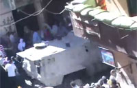 Egyptian Army Vehicle Hits Protesters