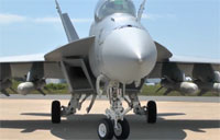 F/A-18F Loaded with Harpoon Missiles