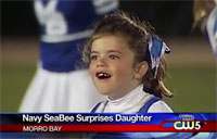 Sailor Surprises 7-yr-old Daughter