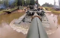 T-90 Tank Goes Fully Submerged