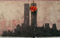 Twin Tower Street Art in New York