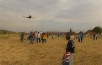 Jet Fighter Buzzes Crowd in Bolivia