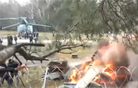 Attack Helo Ka-52 Crashes in Moscow