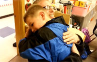 Guardsmen Surprises Son at School