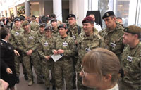 Wounded Allies Visit National Guard
