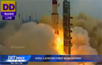 India Launches First Mars Mission