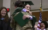 Soldier Surprises Sister on Special Day