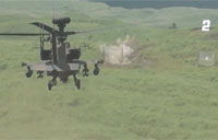 AH-64D M230 30mm Engages Target