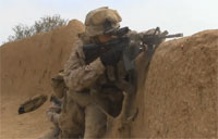 US Marines Clear Enemy Strongholds