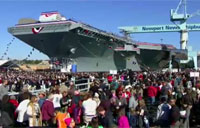 Navy Christens Next Gen Aircraft Carrier